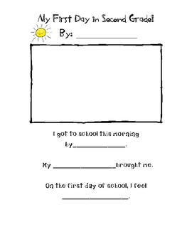 FIrst Day Activity Pack for 2nd Grade