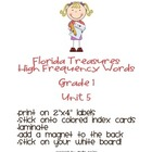 FL Treasures Grade 1 Unit 5 High Frequency Words