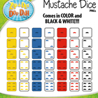 FLASH FREEBIE! Mustache Dice Clip Art Set — Over 40 Graphics!