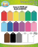FLASH FREEBIE Rainbow Gift Tags Set 1 Clip Art — Includes