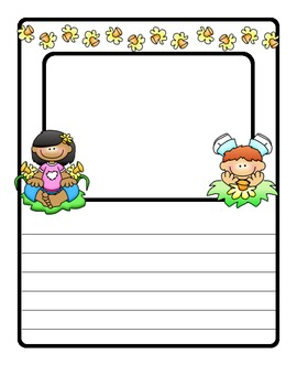 FLOWERS (for Spring): A differentiated writing resource fo