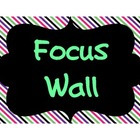 FOCUS WALL Signs - Reading Street