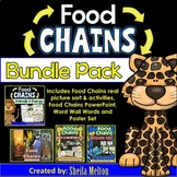FOOD CHAINS Bundle Pack!! (PowerPoint, Sorting Cards and A