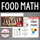 FOOD MATH - M&amp;M Math