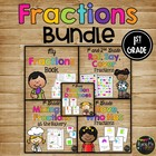 FRACTIONS SET with Book, Games, Whole Group &amp; Center Activities