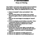 FRANKENSTEIN - Essay on Cloning