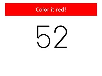 FREE 2013 Watch, Think, Color Hundreds Chart Fun Game!