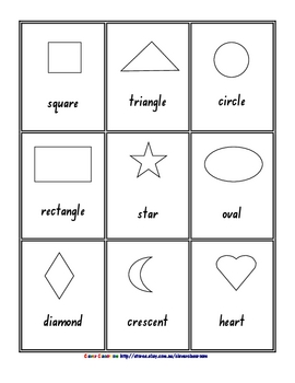 FREE! 2D 3D Shape Posters Black and White Ebook - 26 pages