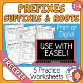 5 Prefix, Suffix, and Roots Printables with Answer Keys FREE!