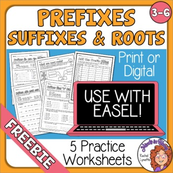 FREE 5 Prefix, Suffix, and Roots Worksheets with Answer Keys