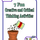 FREE 7 Creative and Critical Thinking Activities! Ready to Use