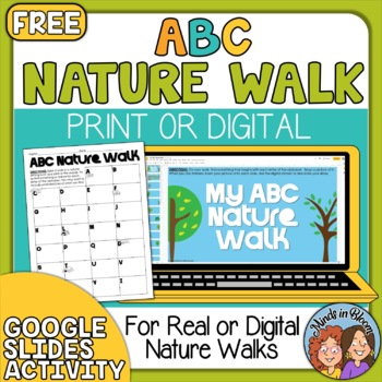 FREE ~ ABC Nature Walk - Fun Activity for Any Group of Kid