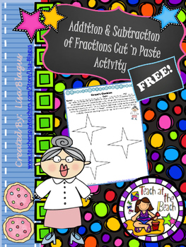 FREE Adding & Subtracting Fraction Fun Activity