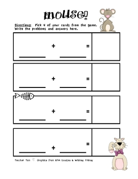 FREE Addition Game--Mouse!