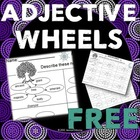Adjective Wheels: Graphic Organizer (FREE)