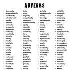 FREE Adverb List