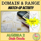 FREE: Algebra 2 Domain and Range Match Activity