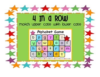 FREE Alphabet Game - {Lower Case and Upper Case Letters}
