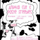 """FREE"" Animal Cut & Paste Activities"