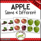 FREE Apple Same &amp; Different Cards
