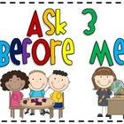 FREE Ask 3 Before Me Sign