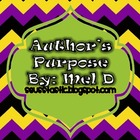 FREE Author&#039;s Purpose Lesson