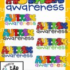 FREE Autism Awareness Titles and Stationary Clip Art