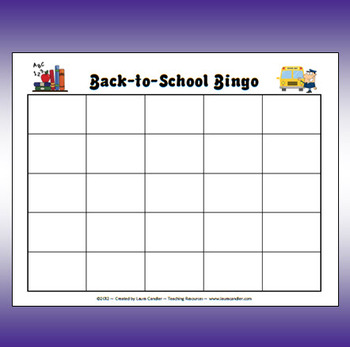 FREE Back-to-School Bingo