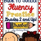 {FREE} Back to School Fluency Practice {Grades 2-5}