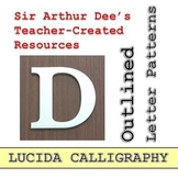 Outlined Letter Patterns (Lucida Calligraphy)