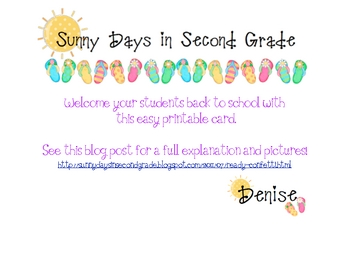 FREE Back to School Ready Confetti Card