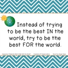 "FREE ""Be the Best FOR the World"" Classroom Sign"