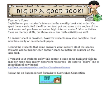FREE Book Order Form Literacy Center