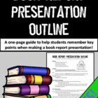 FREE- Book Report Presentation Outline