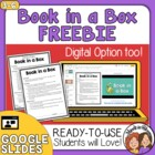 FREE Book in a Box Literature Project with Grading Rubric