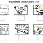 FREE- Brown Bear Candy Sorting and Graphing