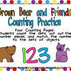 FREE Brown Bear Counting Sets Independent Practice for Kin