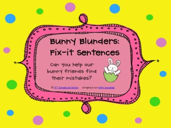 FREE Bunny Blunders:  Fix-It Sentences