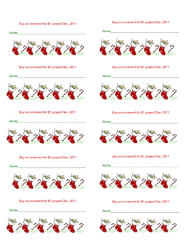 FREE! Buy an Ornament Labels