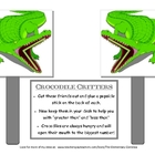 "FREE CROCODILE CRITTER STICKS FOR ""GREATER THAN"" ""LESS THAN"""