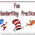 FREE Cat with a Hat Handwriting Practice- Kindergarten & 1