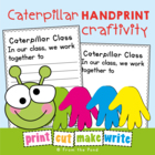 FREE Caterpillar Handprint Classroom Art Activity Number Display