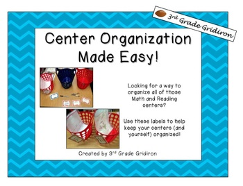 FREE Center Organization Labels