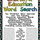 FREE Character Education Word Search- Two Levels