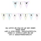 FREE Chevron and Polka Dot We Heart Reading Pennant Banner