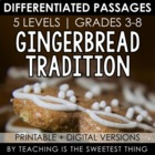 FREE [Christmas Holiday] Gingerbread Tradition Close Readi