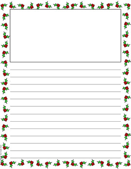 FREE Christmas Holiday Themed Writing Paper