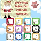 FREE Christmas Polka Dot Calendar Numbers - 3 pages