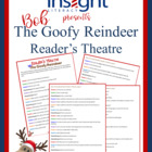 FREE Christmas Reader&#039;s Theatre! Bob the Goofy Reindeer!