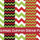 FREE Christmas chevron digital papers